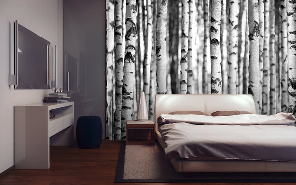 Black and white forest 005 1wall murals for Black and white forest wall mural