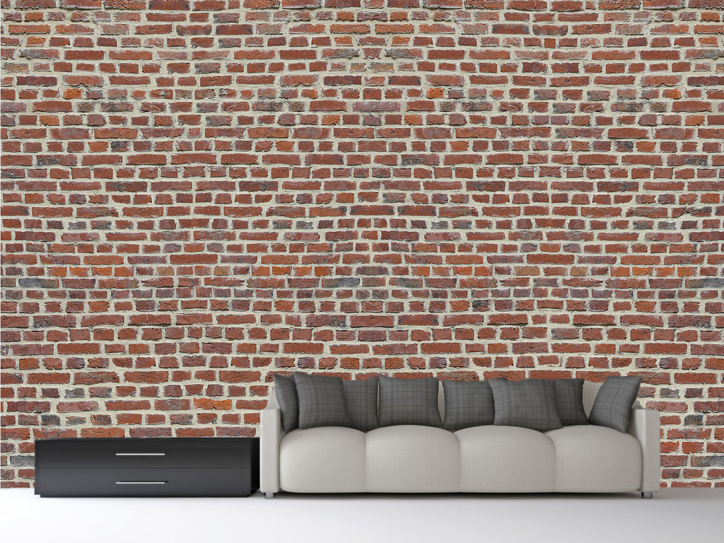 Red brick wall mural 1wall murals for Brick wall mural