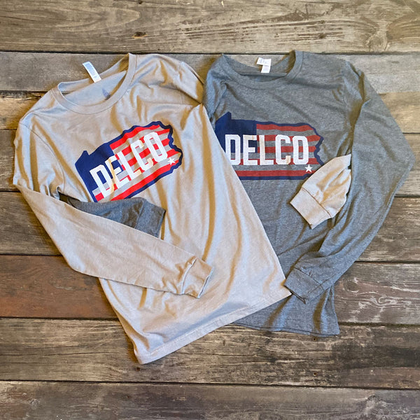 DELCO Old Glory Long Sleever - Grey