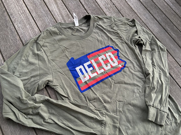 DELCO Old Glory Long Sleever - Military