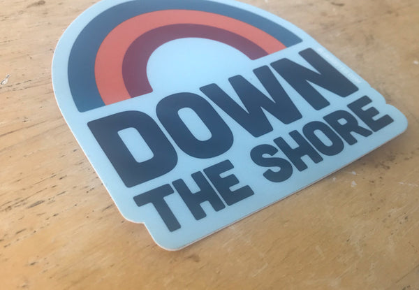 Down The Shore Rainbow Sticker