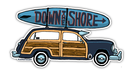 Down The Shore Woodie Magnet