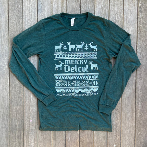DELCO Ugly Sweater Green Longsleever