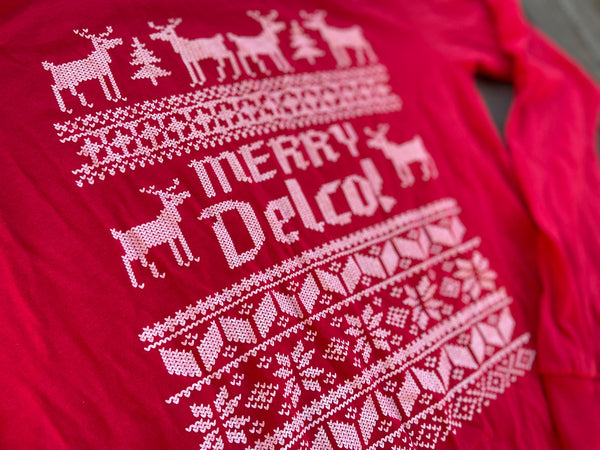 DELCO Ugly Sweater Red Longsleever