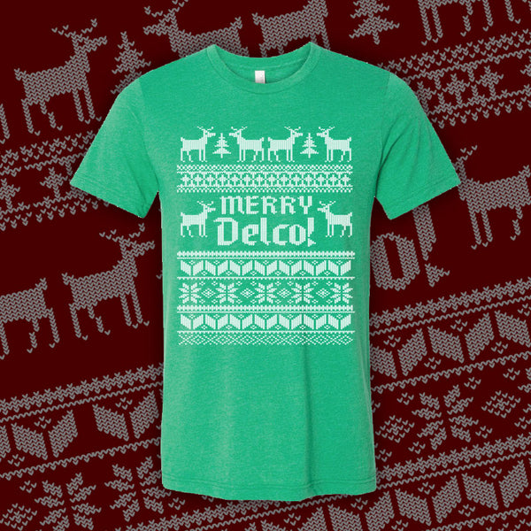 DELCO Ugly Sweater Green
