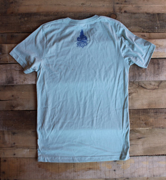 Down the Shore Woodie Dusty Blue T