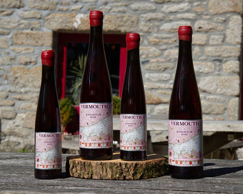 Cornish rose vermouth from english wine Cornish vineyards