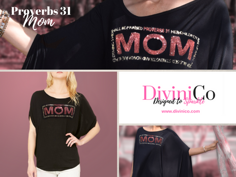 Proverbs 31 Mom Shirt Tshirt T shirt Mother's Day Mothers Rhinestone Bling