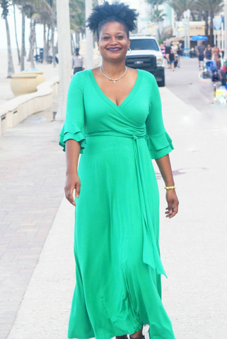 40% Off Sale: The Closet Refresh Collection: Emerald Green Maxi Dress