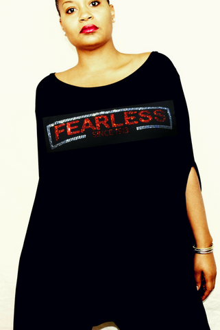"New Arrival:  ""Fearless since 1913"" Blousy Tunic Poncho"