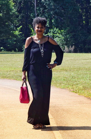 CLEARANCE: The Closet Refresh - The Perfect Black Cold Shoulder Jumpsuit