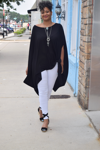Closet Refresh: The Black Beauty Poncho Tunic