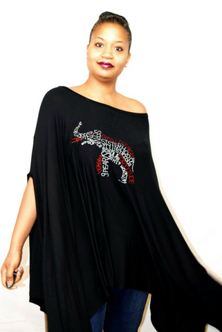 "40% Off Sale:  Infinity ""Elephant"" Blousy Tunic Poncho"