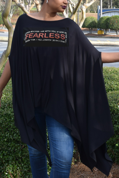 "New Arrival:  Infinity ""Fearless"" Blousy Tunic Poncho"