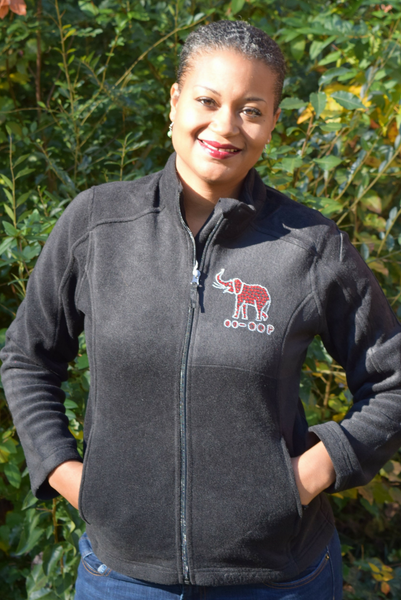 Pendant Elephant Fleece Jacket