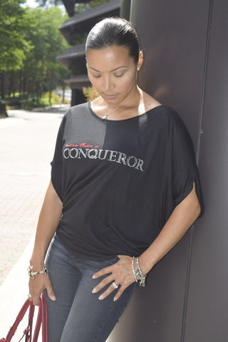 "The ""More than a Conqueror"" Blousy Tee"