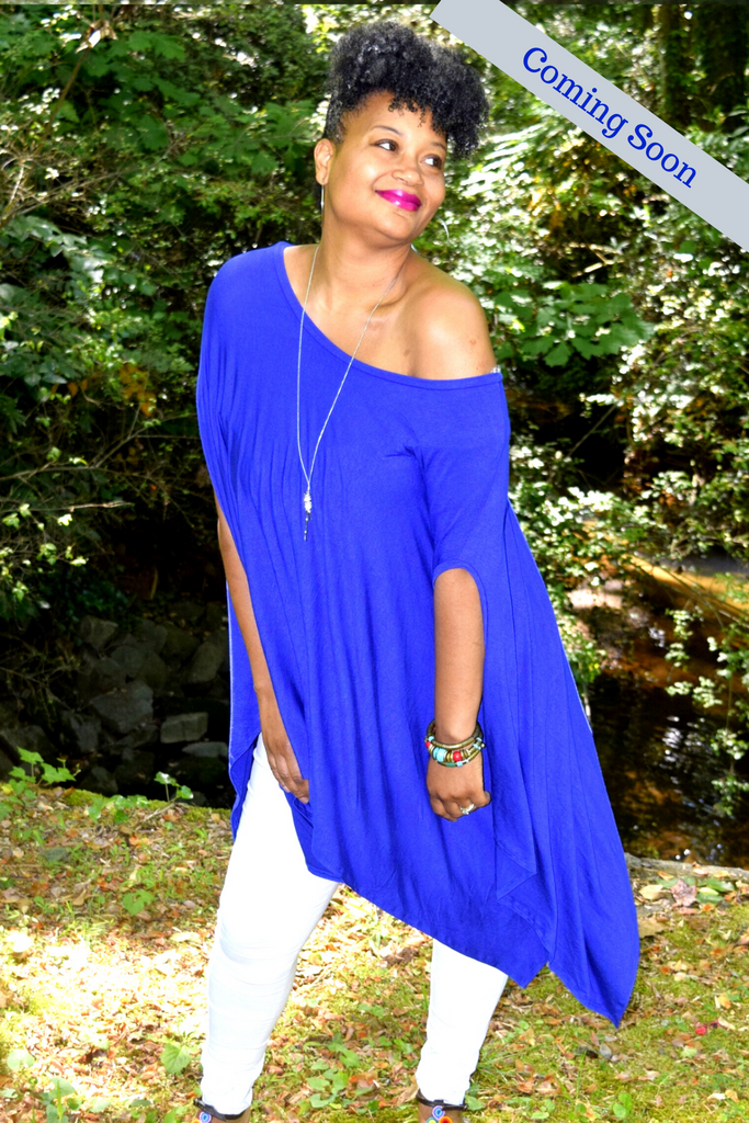 The Innocence Collection: The Regal Royal Blue Tunic Poncho