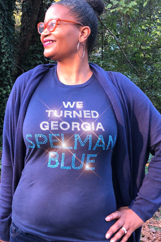 We Turned Georgia Spelman Blue Fundraising Tee