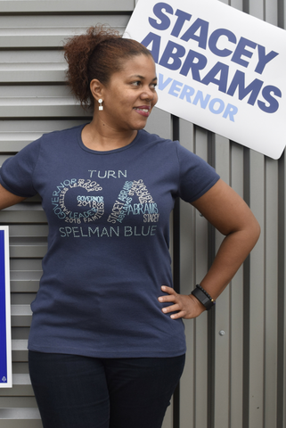 Turn GA Spelman Blue Fundraising Tee - Midnight Blue