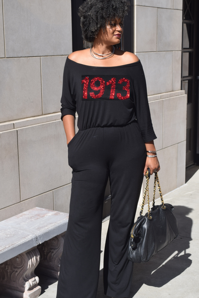 "The Light it Up ""1913"" Wide Neck Wide Leg Jumpsuit"