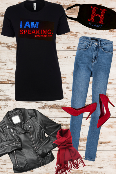 I AM Speaking - Every Howard Alum - Baby Doll Fitted Tee