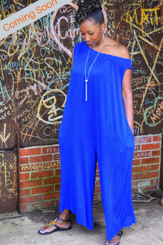 The Closet Refresh:  Off the Shoulder Harem Jumpsuit