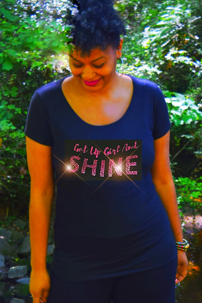 Mask & Tee: Get Up Girl and Shine