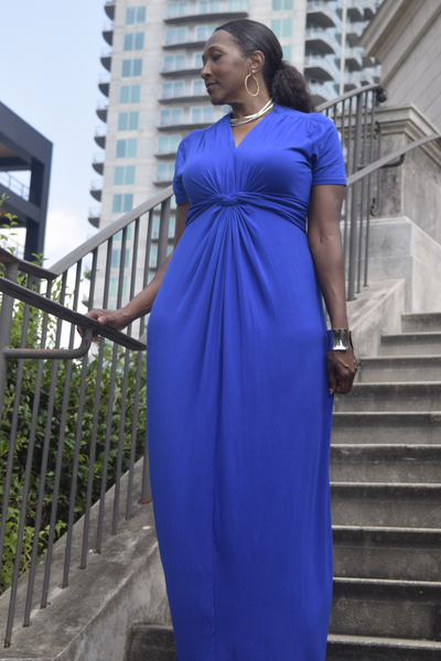 The Closet Refresh: Fit for a Queen Grecian Maxi Dress