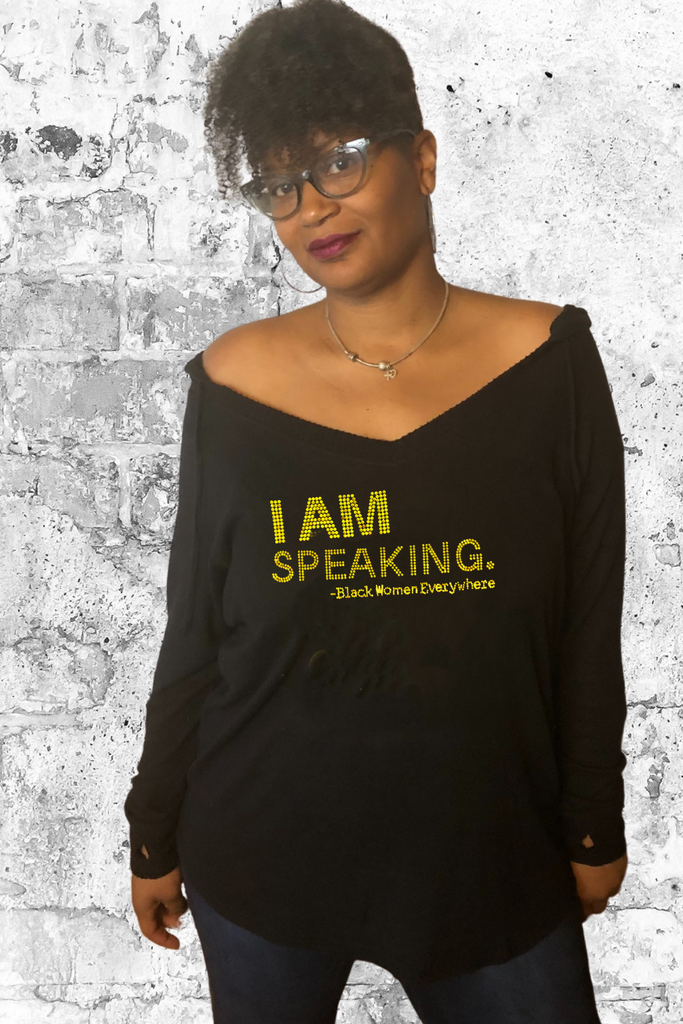 I AM Speaking - Black Women Everywhere - V-neck Hoodie