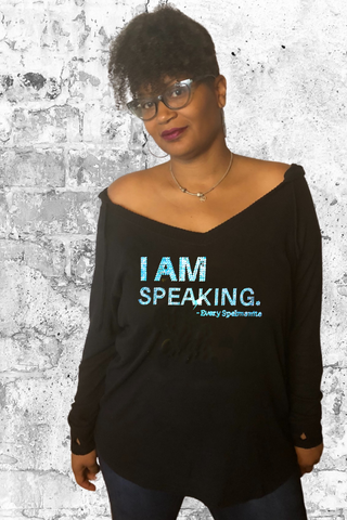 I AM Speaking - Every Spelmanite - V-neck Hoodie