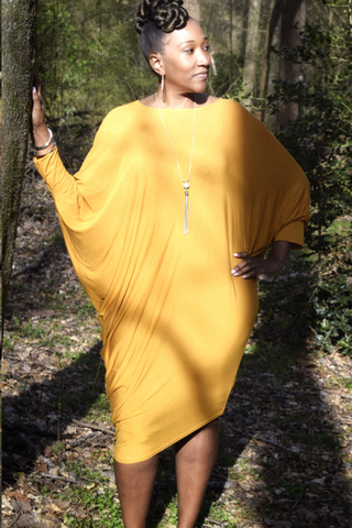 CLEARANCE:  The Closet Refresh - Asymmetric Tunic Dress