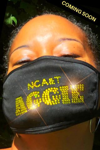 Bling Mask: NC A&T Aggie