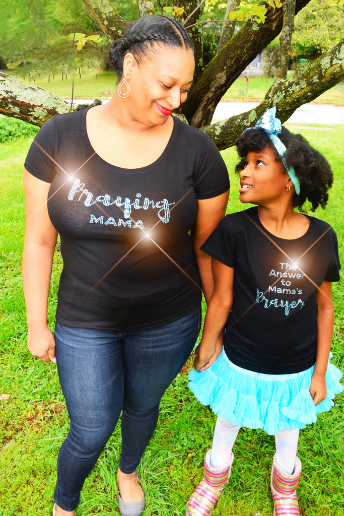 "Mommy and Me Collection: ""The Answer to Mama's Prayers"" Mini Tee"