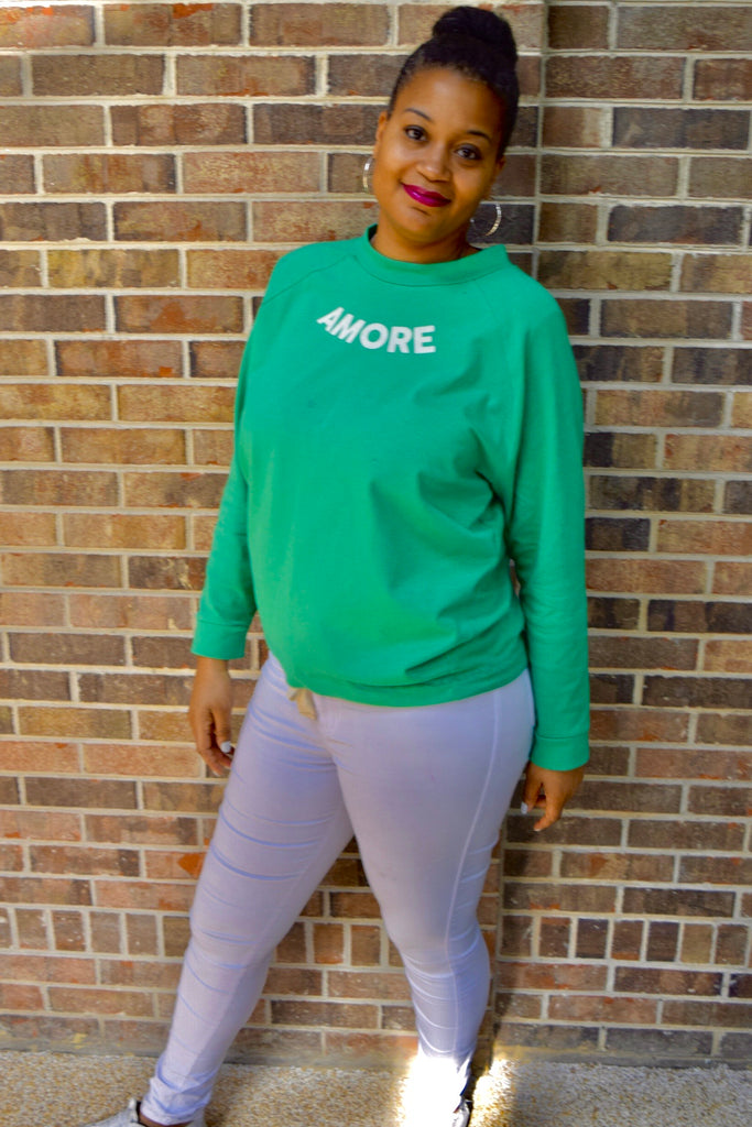 "The Closet Refresh: The Slouchy Emerald ""Amore"" Sweatshirt"