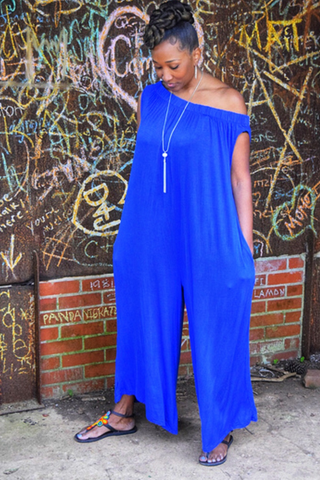 CLEARANCE: The Closet Refresh - Off the Shoulder Harem Jumpsuit