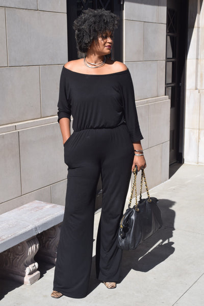 "The Closet Refresh: Still I Rise"" Wide Neck Wide Leg Jumpsuit"