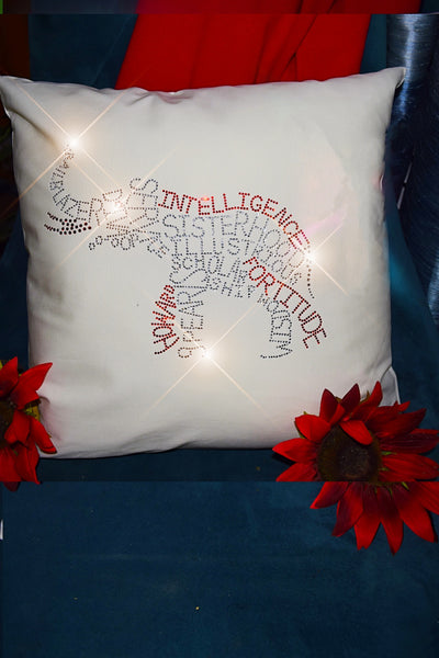 """Infinity Elephant"" Throw Pillow"