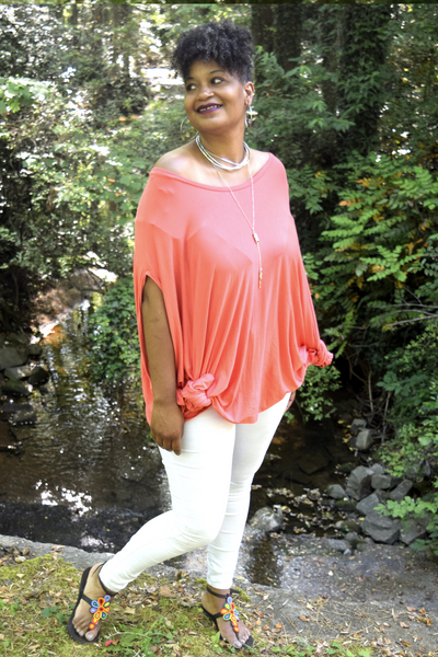 The Innocence Collection: The Tangerine Coral Tunic Poncho
