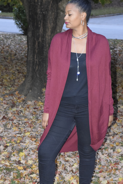 The Closet Refresh:  Knitted Cocoon Long Length Cardigan