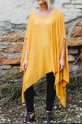 The Closet Refresh: The Must Have Mustard Poncho Tunic