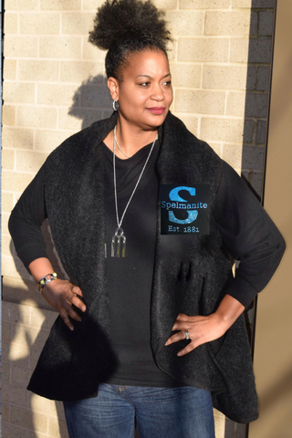 "40% Off Sale ""S"" is for Spelmanite Long Vest"