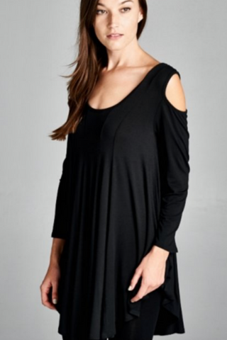 The Closet Refresh: Flowy Cold Shoulder top