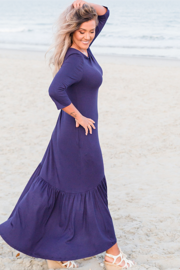 CLEARANCE: The Closet Refresh - Necessary Navy Mermaid High Low Dress
