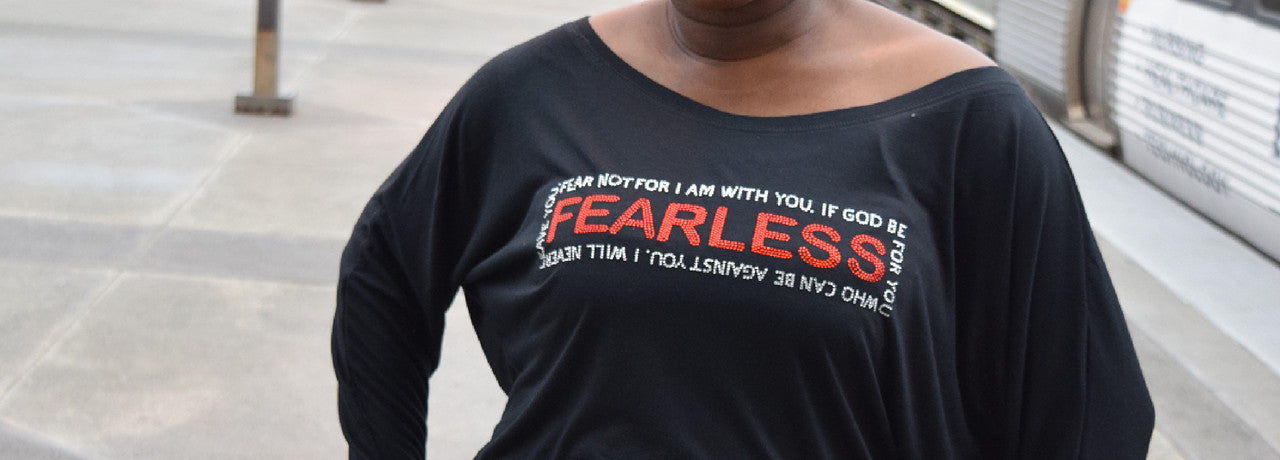 Fearless Christian Rhinestone Bling Shirt