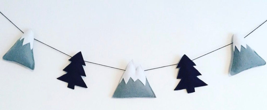 Monochrome Mountain garland