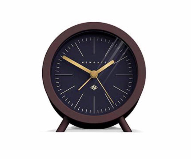 Fred Alarm Clock Chocolate Black with Black dial