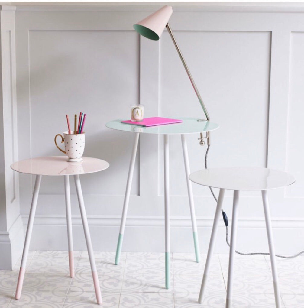 Pale Pink Clamp Table Light