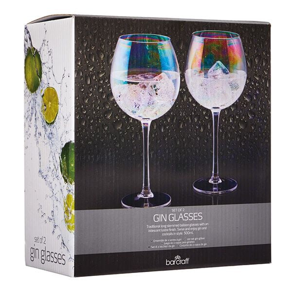 Set of 2 Iridescent Gin Glasses