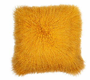 Mongolian Mustard Fur cushion