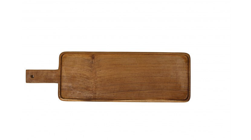 Teak Long Rectangular Paddle Board
